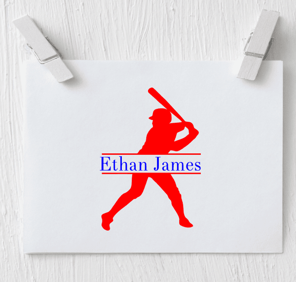 Baseball Monogram Decal - Clowdus Creations