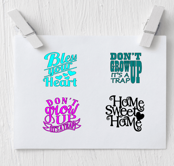 Bless your heart decal - Don't Grow Up Decal - Clowdus Creations