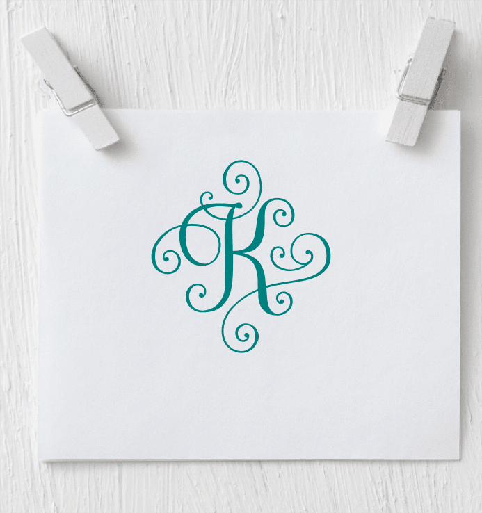 Single Letter Monogram - Solid Vinyl Decal - Clowdus Creations