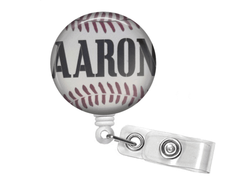 Retractable Badge Reel - Baseball - Clowdus Creations