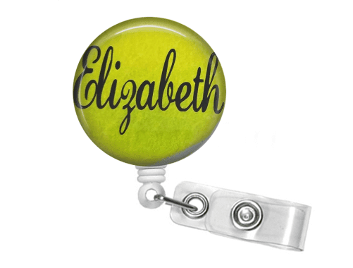 Retractable Badge Reel - Tennis - Clowdus Creations