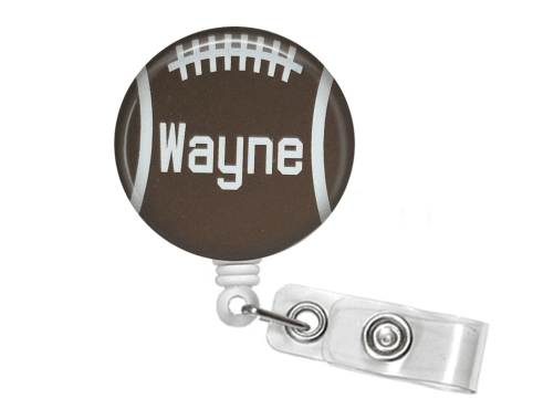 Retractable Badge Reel - Football - Clowdus Creations