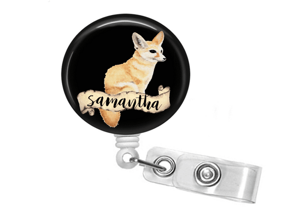 Retractable Badge Holder - Fox - Clowdus Creations
