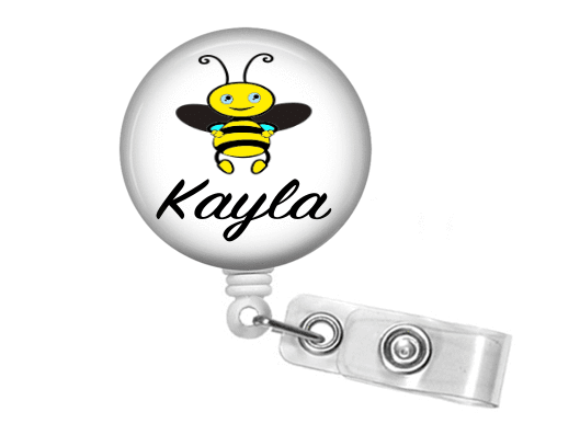 Badge Reel - Bumble Bee - Clowdus Creations