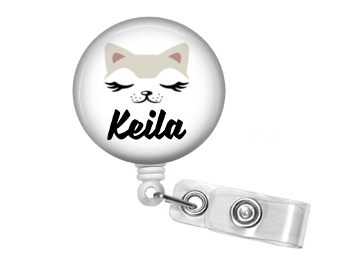 Badge Reel - Cat - Clowdus Creations