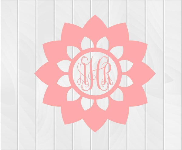 Flower Monogram Collection Two - Clowdus Creations