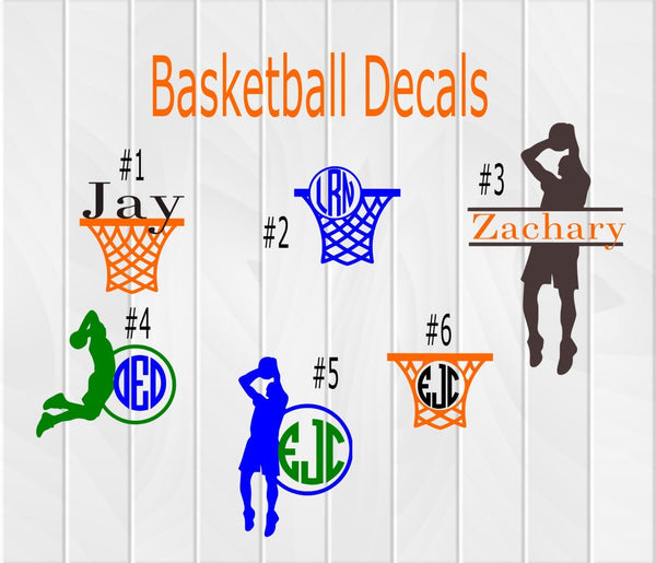 Basketball Player Monogram Decal - Clowdus Creations