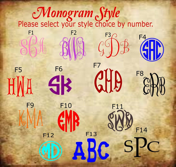 Monogram Owl Decal - Clowdus Creations