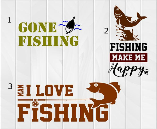 Fishing Decal - Clowdus Creations
