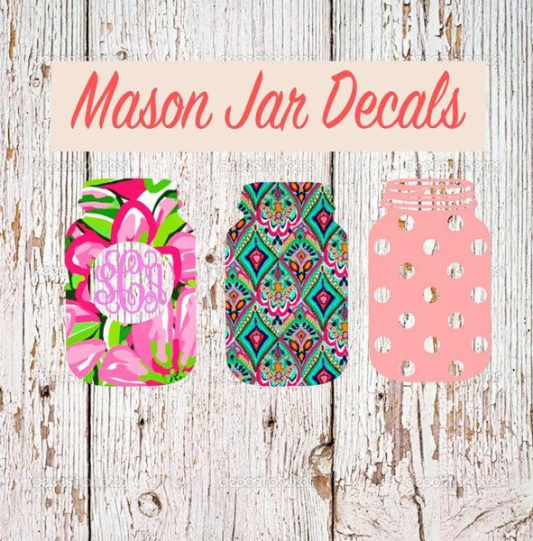Mason Jar Decal Collection One - Clowdus Creations