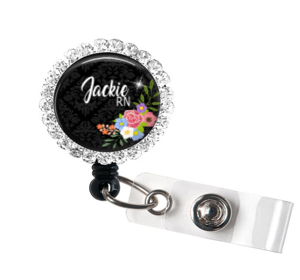 Bling badge reel   Clowdus Creations