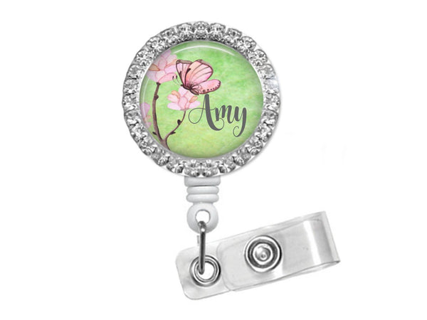 Butterfly Bling badge reel  Badge Reels Clowdus Creations