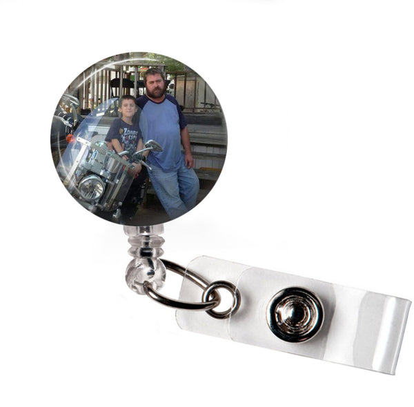 Add Your Photo - Custom Photo Badge Reel  Badge Reels Clowdus Creations