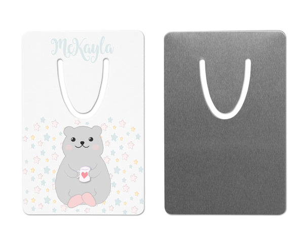 Personalized Bookmark Bear   Clowdus Creations