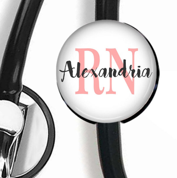 Nurse Stethoscope ID Tag With Credentials  Stethoscope ID Tag Clowdus Creations