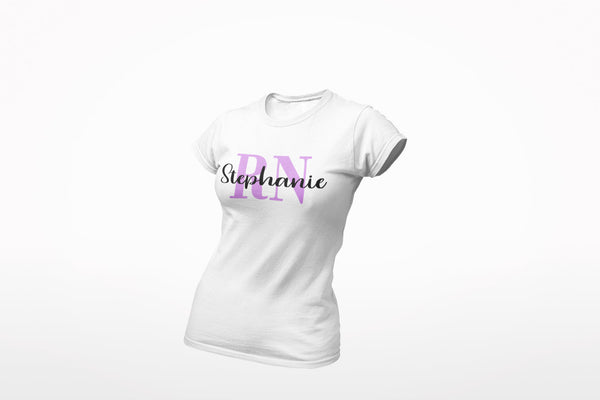Personalized RN T-shirt | RN T-Shirt | Nurse T-shirt | Nurse Gifts | Gift For Nurse | Ladies Slim Fit Fine Jersey Tee | Gift for Student RN