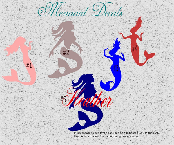 Mermaid Decal - Clowdus Creations
