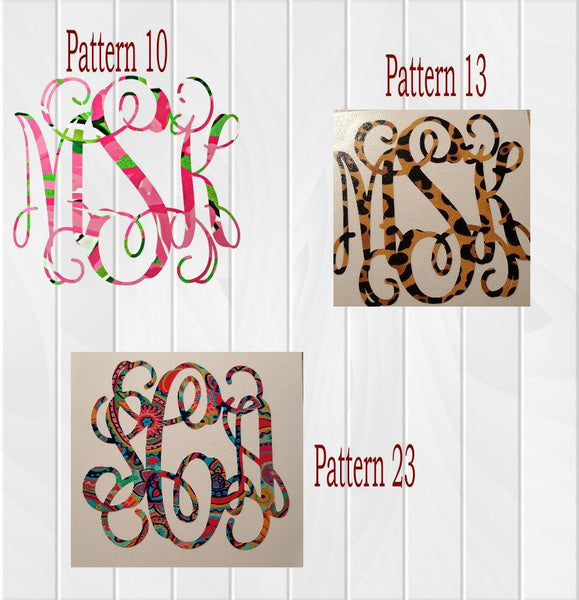 Patterned Vinyl Decal - Clowdus Creations