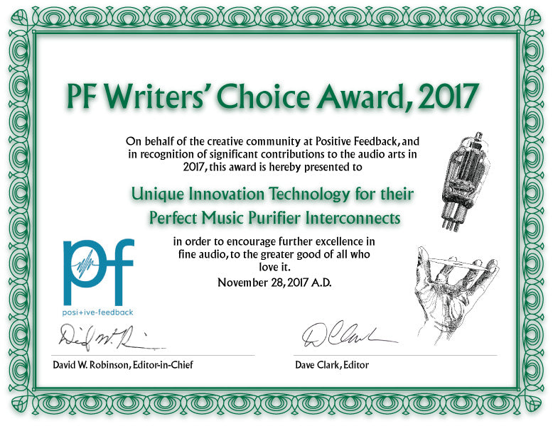 The 14th Annual Positive Feedback Writers' Choice Awards for 2017