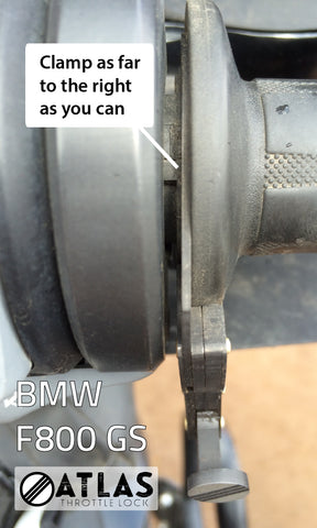 BMW F800 Throttle Lock