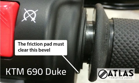 KTM 690 Duke Throttle Lock