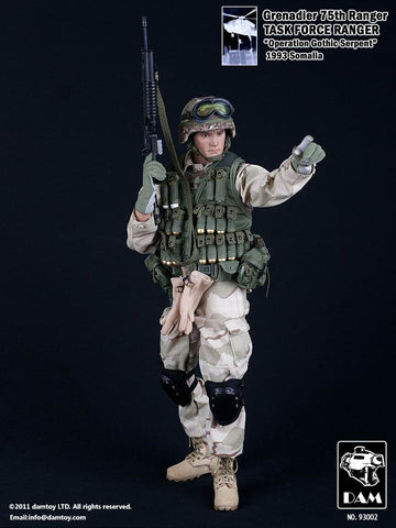 DAM Toys 1/6 75th Ranger Task Force Ranger (Grenadier) Boxed Set #DAM-93002