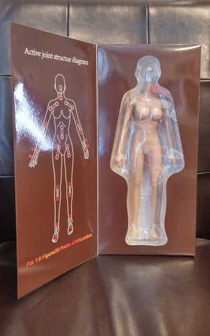 JIAOU DOLL 1/6 Female Seamless Body Action Figure Set (Suntan - Large Bust) #JD-005
