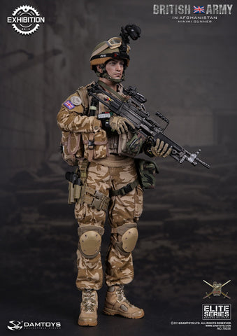 DAM Toys 1/6 ELITE SERIES British ARMY in Afghanistan MINIMI Gunner Boxed Set #DAM-78036
