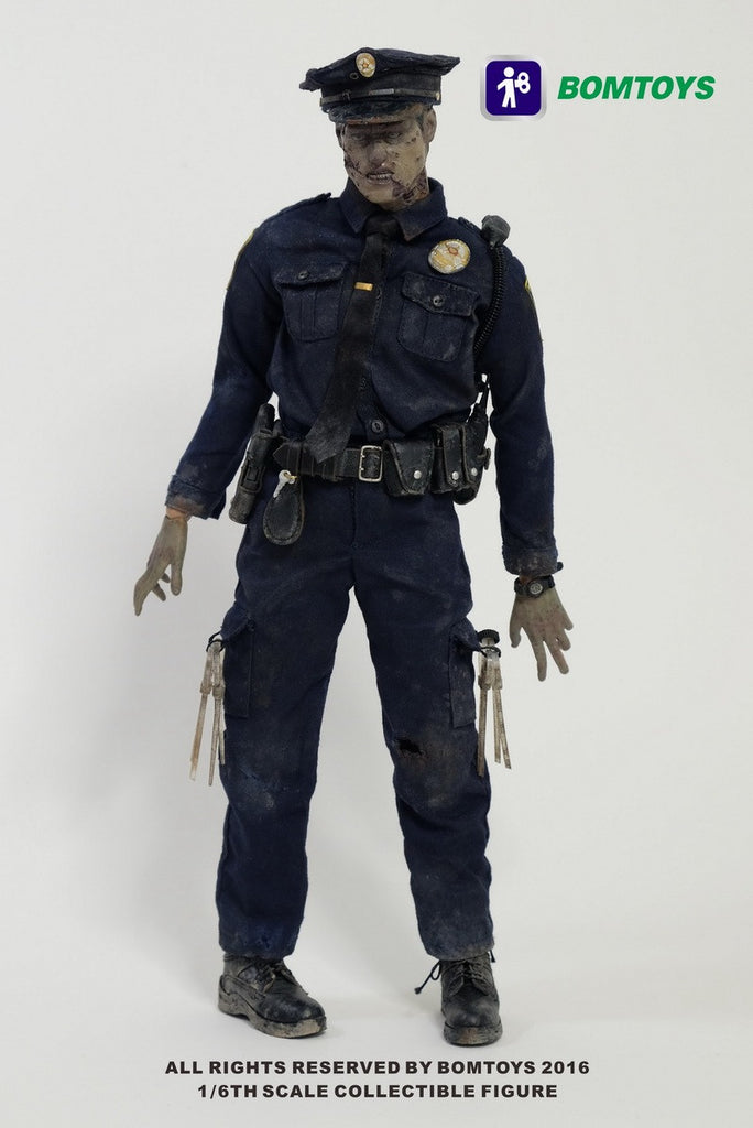 "BOM TOYS 1/6 Action Figure ""Officer Zombie"" Boxed Set #BT-003"