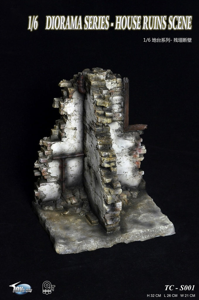 Toys City 1/6 Diorama Series - House Ruins Scene Set #TC-S001