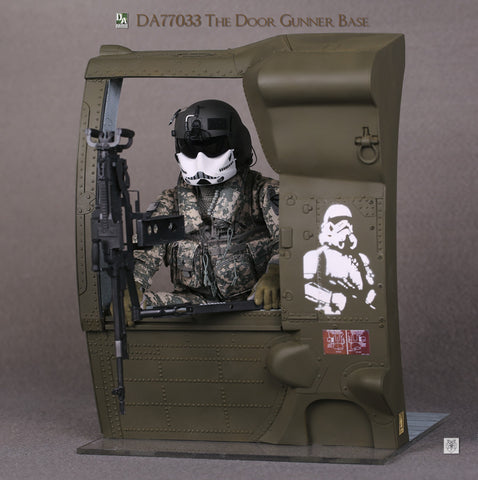 DA Studio 1/6 The Door Gunner Base Upgrade Version Diorama Set OD Green Color #DA-77033C