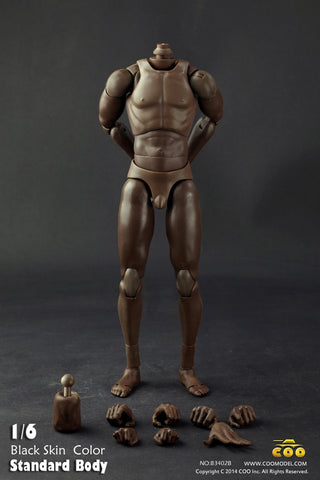COO MODEL 1/6 Male Standard Body 2.0 Action Figure Set AFRICAN AMERICA Style (Tall Height) #CM-B34002B
