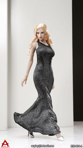 "AC PLAY 1/6 Sleeveless Mermaid Gown Accessory Set A ""Silver Color"" #AP-ATX014A"