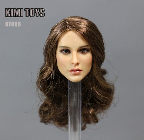 1/6 Loose Natalie Custom Female Head Sculpt #KT-008