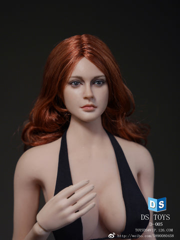 1/6 Loose Custom Female Head Sculpt Rooted Red Hair #DS-D005