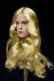 1/6 Loose Rey (D. Ridley) Custom Female Head Sculpt Rooted Hair Blonde #MISC-H028A