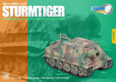 Dragon Models 1/ 72nd Scale Armor 38cm R61 AUF Sturmtiger, 1001st Sturmmorser Kompanie. Germany 1945 #60026