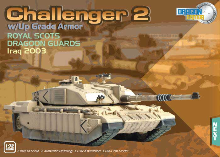 Dragon Models 1/72nd Scale Armor Series Modern Challenger II w/Up Grade Armor, Royal Scots Dragoon Guards, Iraq 2003 #60044