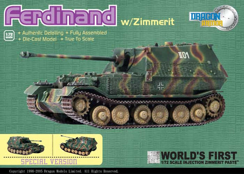 Dragon Models 1/ 72nd Scale Armor Sd.Kfz 184 Ferdinand sPzJgAbt 654 , Eastern Front 1943 #60054