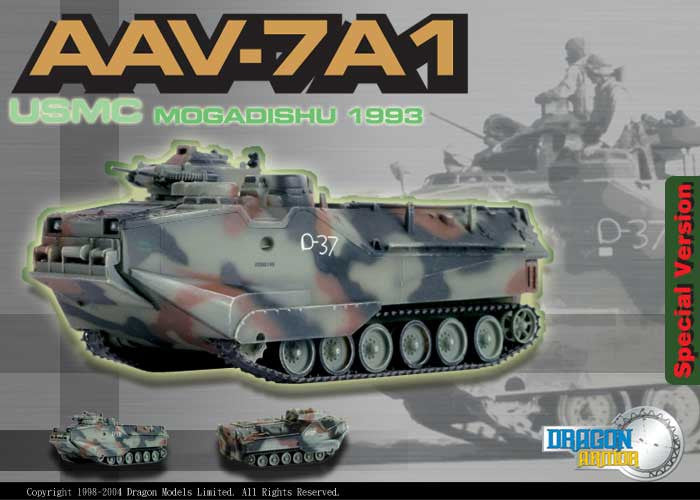 Dragon Models 1/ 72nd Scale Armor  AAV-7A1, USMC, Mogadishu 1993 #60056