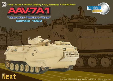 Dragon Models 1/ 72nd Scale Armor  AAV-7A1, Operation Restore Hope Somalia 1993 #60057