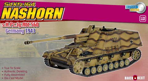 Dragon Models 1/ 72nd Scale Armor Nashorn, s.H.Pz.Jg.Abt.560, Germany 1943 #60061
