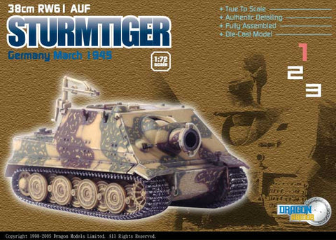 Dragon Models 1/ 72nd Scale Armor 38cm RW61 AUF Strumtiger, Germany, March 1943 #60114