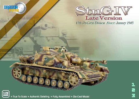 Dragon Models 1/ 72nd Scale Armor  StuG IV Late Version, 17th Pz-Gren Division, Alsace, January 1945 #60117