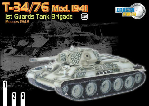 Dragon Models 1/ 72nd Scale Armor  T-34/76 Mod. 1941, 1st Guards Tank Brigade, Moscow 1942 #60135
