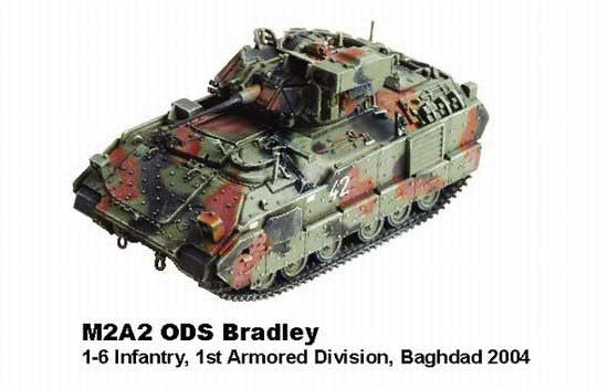 Dragon Models 1/ 72nd Scale Armor Series Modern Operation Iraqi Freedom Collection M2A2 ODS Bradley, 1-6 Infantry, 1st Armored Division, Baghdad 2004  #60171J