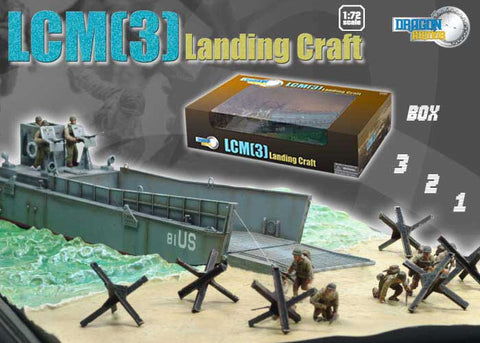 Dragon Models 1/ 72nd Scale Armor  LCM(3) Landing Craft #60205