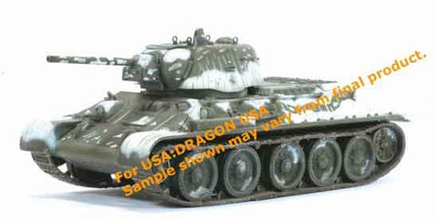 Dragon Models 1/ 72nd Scale Armor  T-34/76 Mod. 1942 w/Cast Turret, Unidentified Unit, Eastern Front 1943 #60208