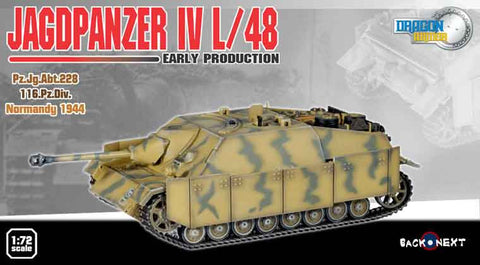 Dragon Models 1/ 72nd Scale Armor Jagdpanzer IV L/48, Early Production, Pz.Jg.Abt 228, 116.Pz.Div, Normandt 1944 #60225