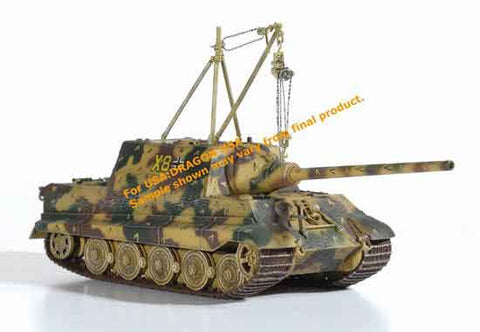 Dragon Models 1/ 72nd Scale Armor JagdTiger (Henschel Production) w/Zimmerit w/2 Metric Ton Lifting Crane, s.Pz.Jg.Abt.512, Germany 1945 #60266